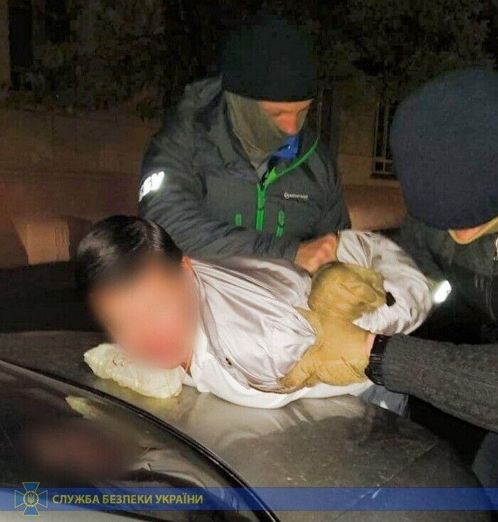 Задержание мошенника в Киеве