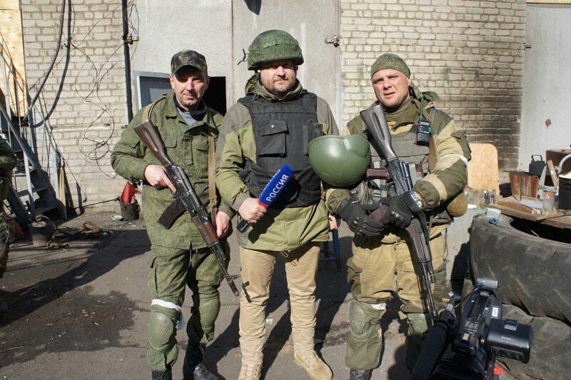 Террорист Нестеренко с пропагандистами Кремля на Донбассе
