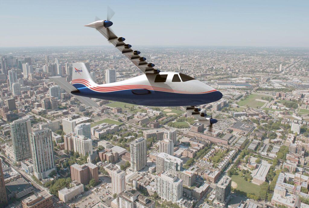 Концепт електричного літака X-57 Maxwell