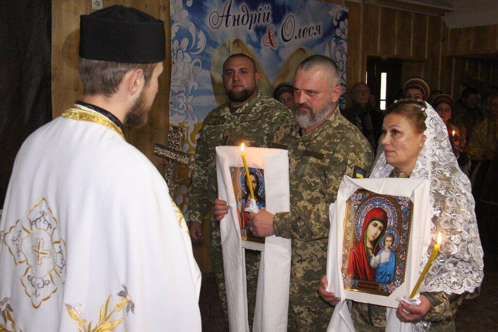 Свадьба воинов ВСУ на передовой