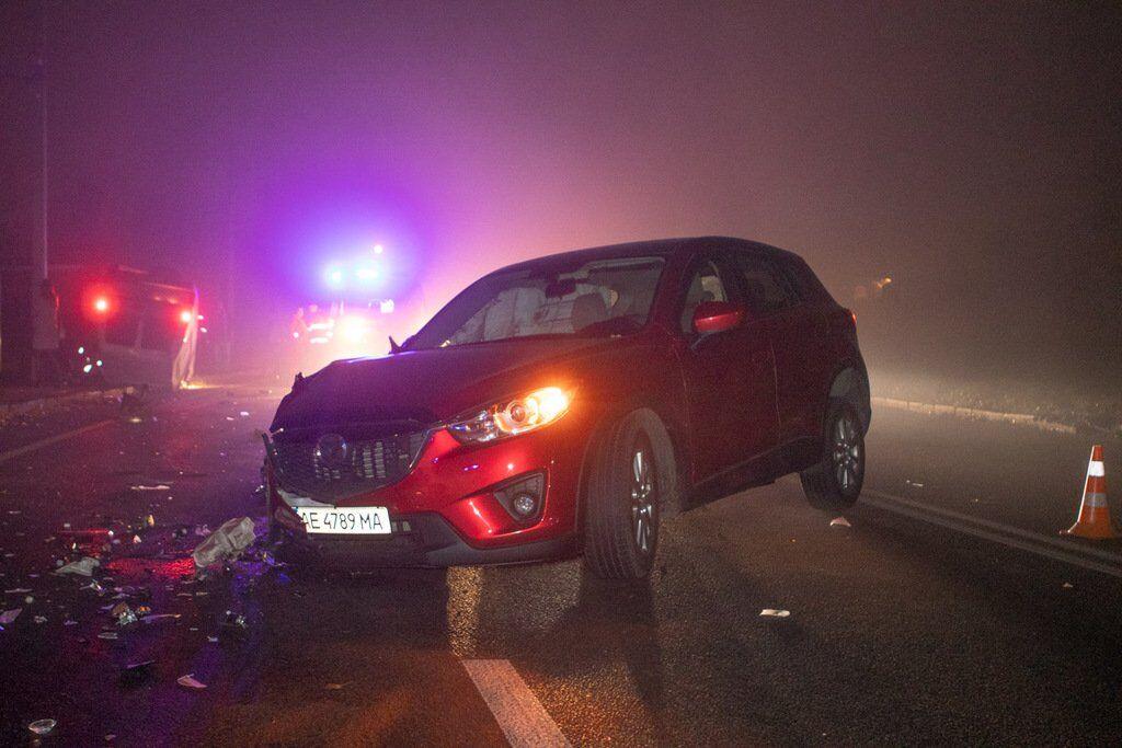 В Днепре столкнулись Mazdа и Opel