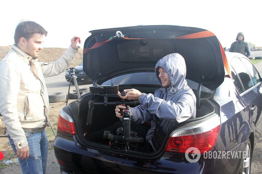 Одесский Ван Дамм: каскадер проехал на авто, стоя на руках