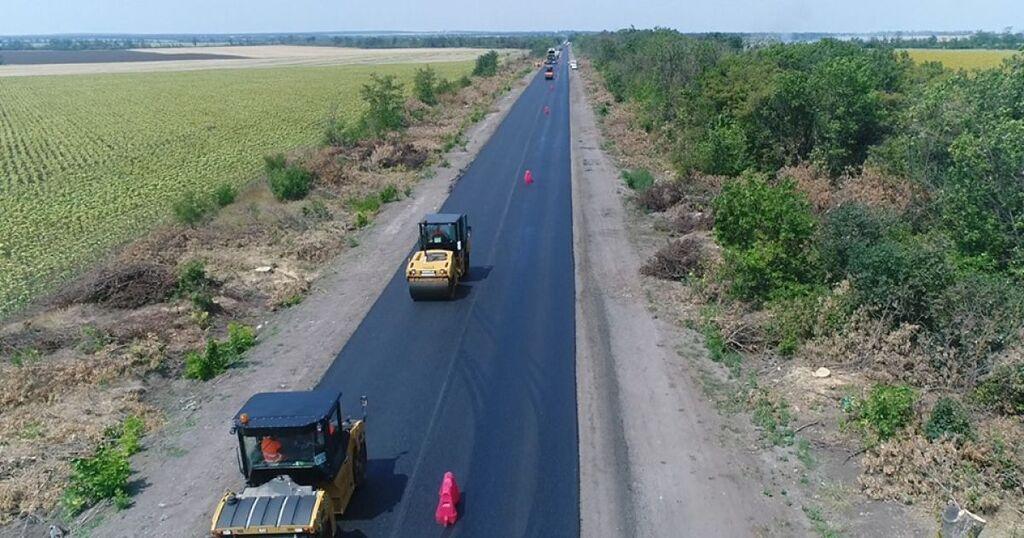 Строительство трассы Запорожье-Мариуполь