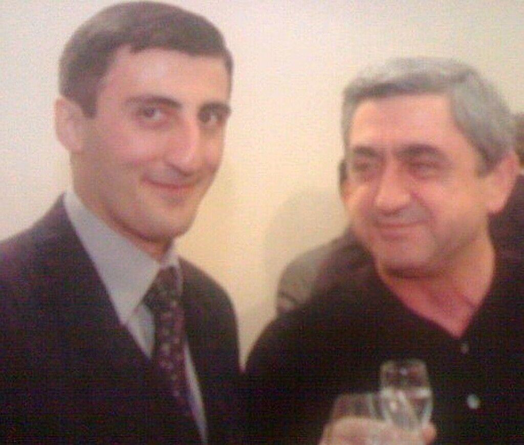 Ашот Болян з колишнім президентом Вірменії Сержем Саргсяном