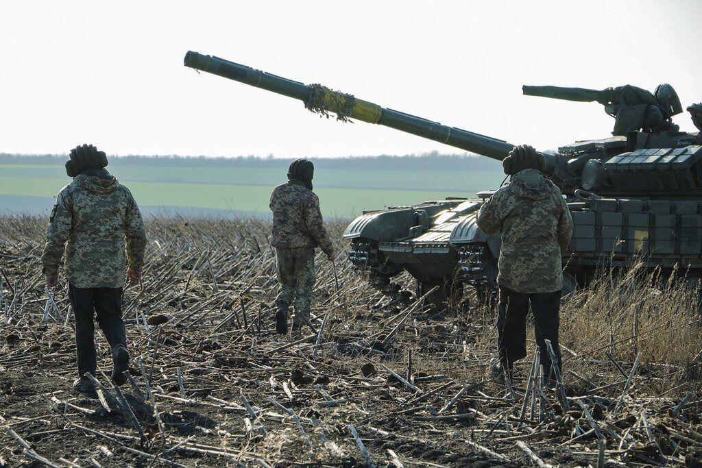Учения танкистов ВСУ на Донбассе