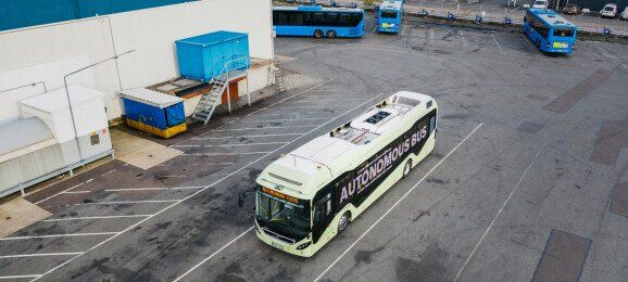 Автономне пересування електробуса Volvo