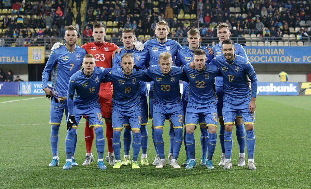 Сборная Украины в последнем на сегодняшний день матче, 14 ноября против Эстонии (1:0)