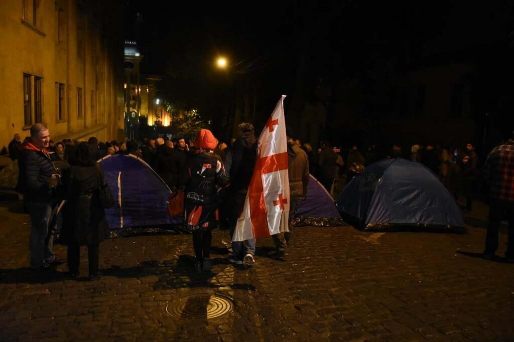 Протест в Тбилиси вечером 17 ноября