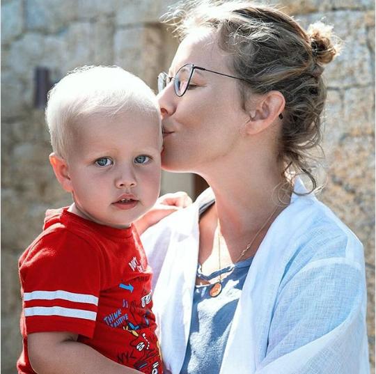 Ксения Собчак с сыном Платоном