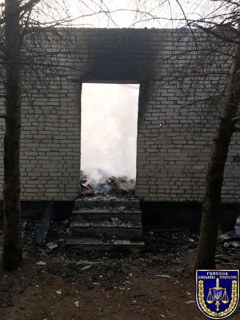 Пожар в воинской части