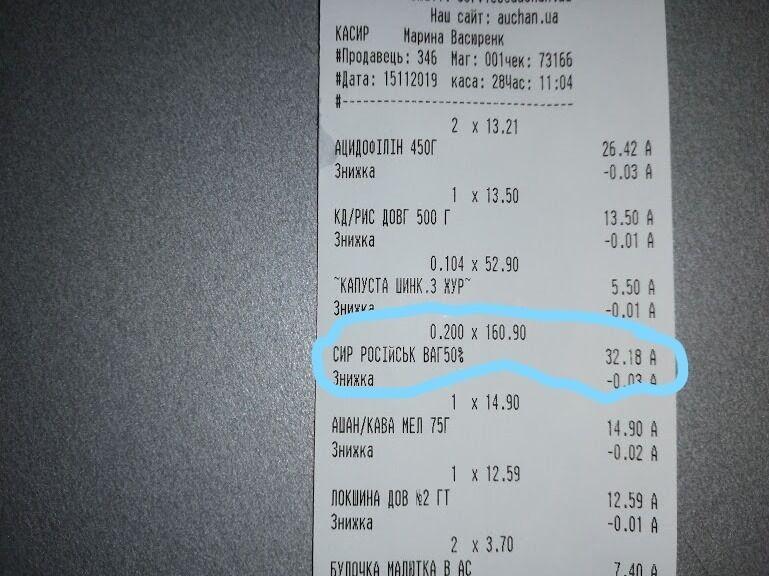 Магазин звинуватили в тому, що там кілька разів продавали товари не за тією вартістю, яка була вказана на ціннику