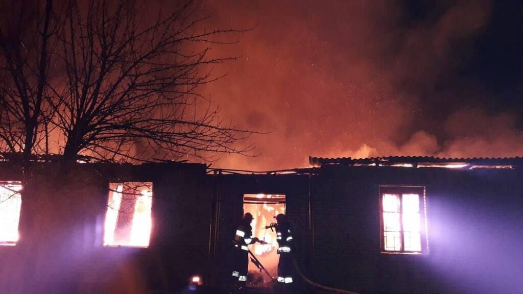 Пожар в военной части