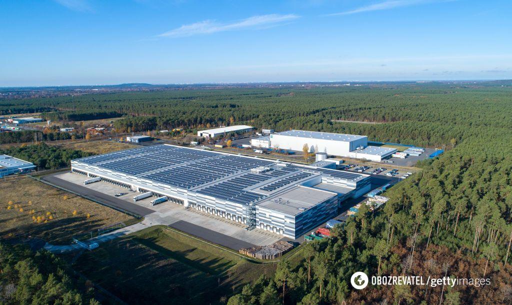 Центр вантажних перевезень на схід від Берліна, поруч з яким буде побудована Gigafactory 4