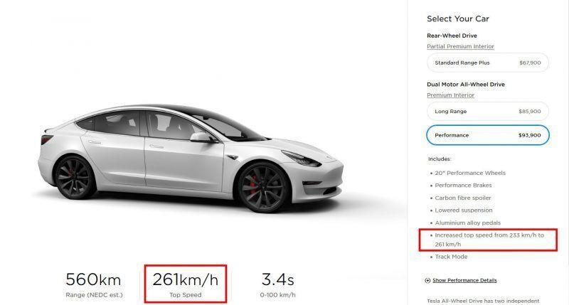 Скріншот австралійської версії сайту Tesla