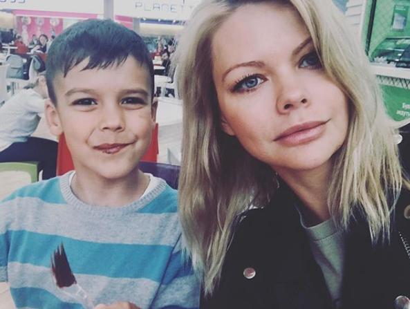Александра Клитина с сыном