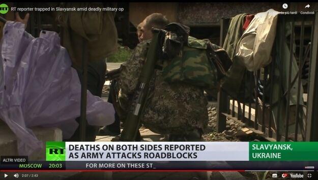 Інший проросійський терорист, ймовірний вбивця Роккеллі, біля поїзда-барикади