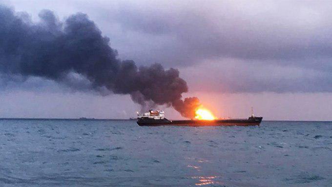 """Взрыв на танкере """"Залив Америка"""" в России"""