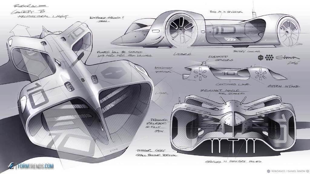 Автономний електрокар Roborace Robocar