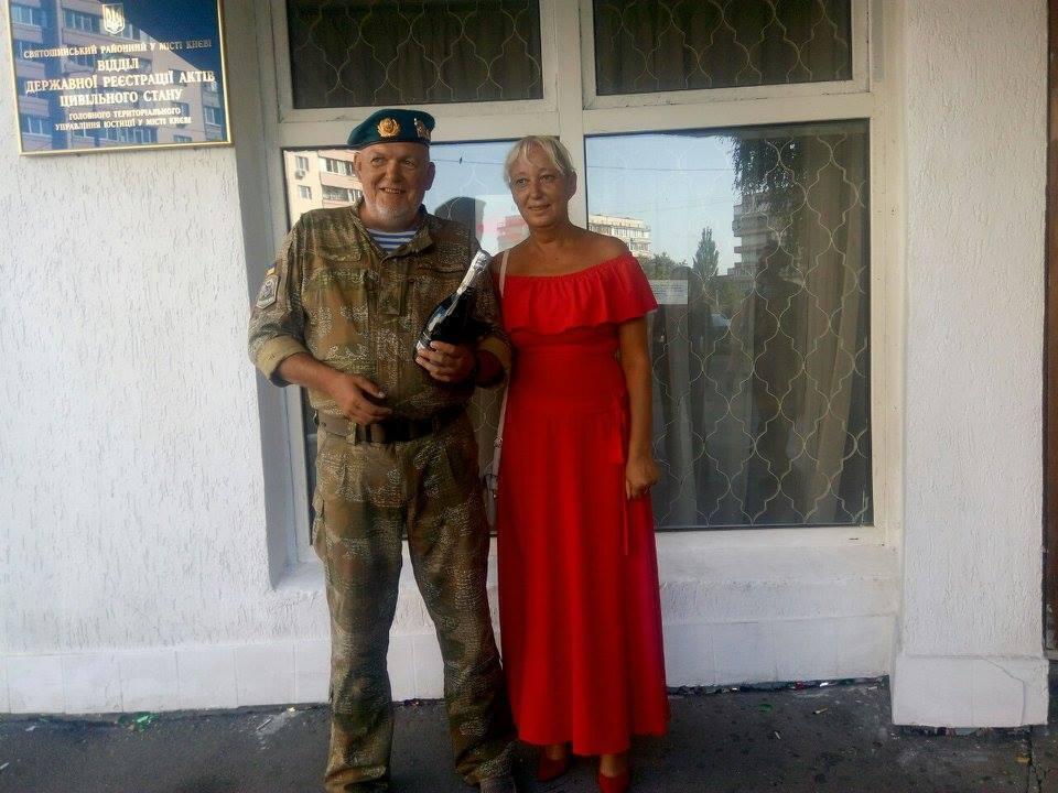 Загиблий ветеран АТО Ігор Панов із дружиною Оксаною