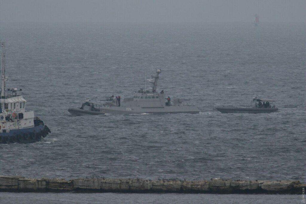 Прибытие украинских кораблей в Очаков