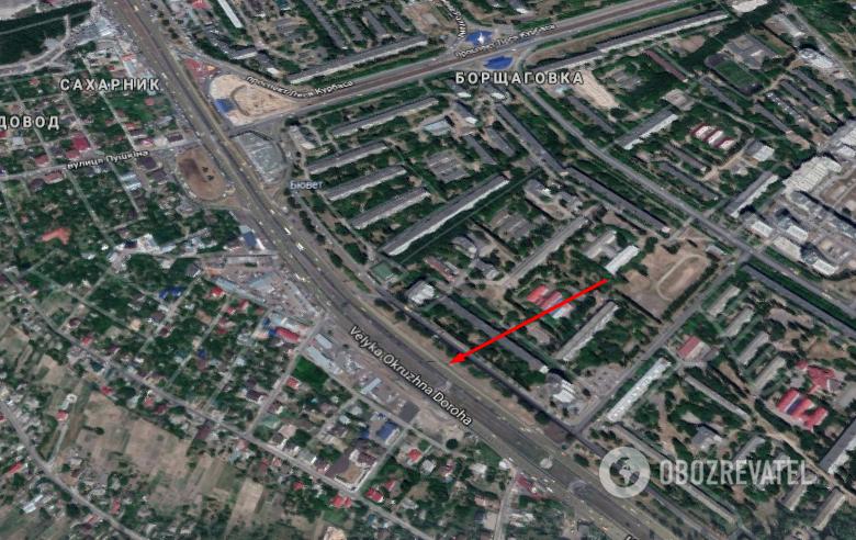 Авария произошла на ул. Зодчих в Киеве