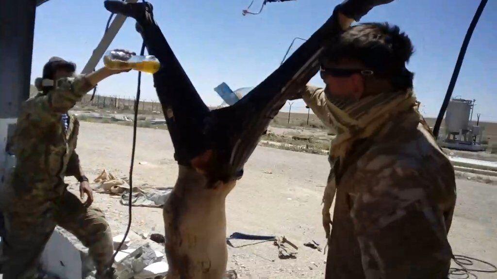 Россияне зверски убили человека в Сирии