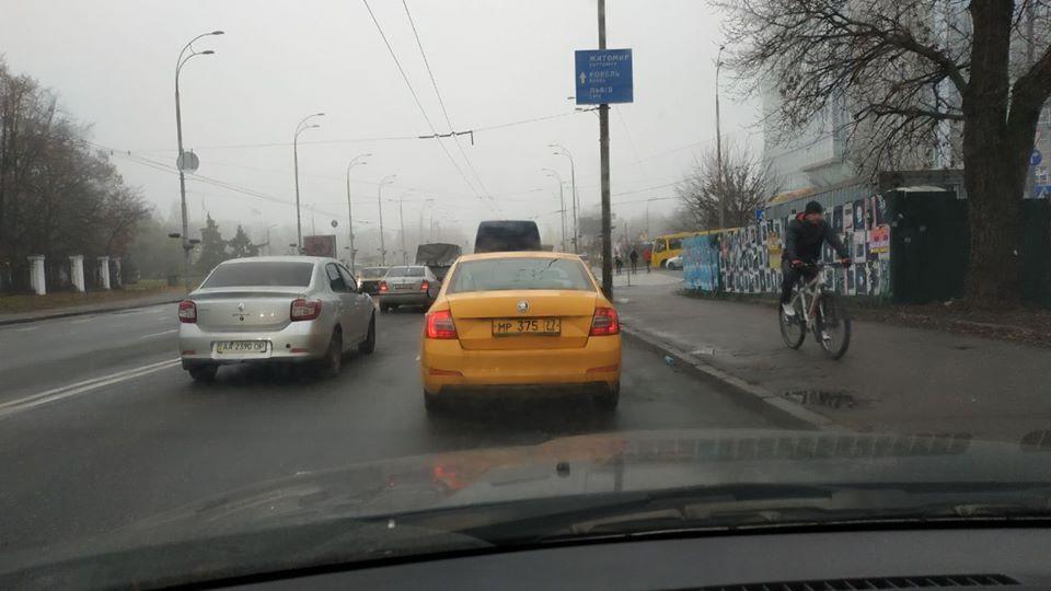 В Киеве заметили запрещенное российское такси