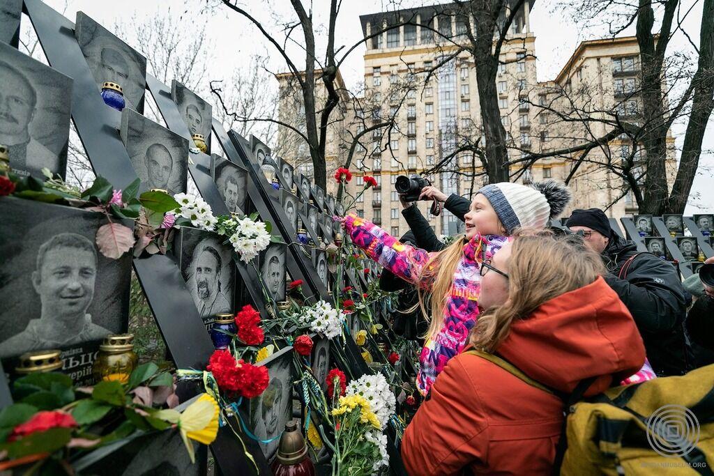 В Киеве прошел молебен по Небесной Сотне