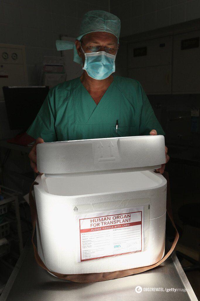 """В таких контейнерах перевозят """"живые"""" органы для операции"""