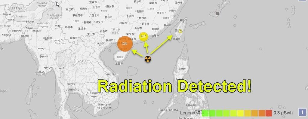 В Китае, на Тайване и во Вьетнаме зафиксировали радиацию