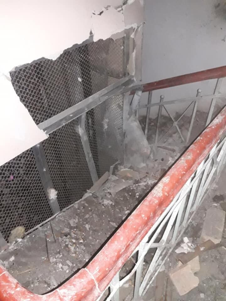 Последствия взрыва в Киеве в жилом доме