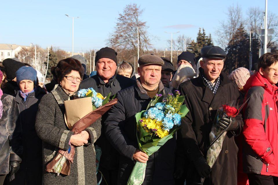 В Краматорске состоялся митинг по случаю годовщины Революции Достоинства