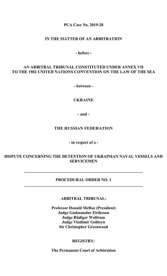 В Гааге выдали приказ Арбитражного трибунала по делу захвата кораблей Россией
