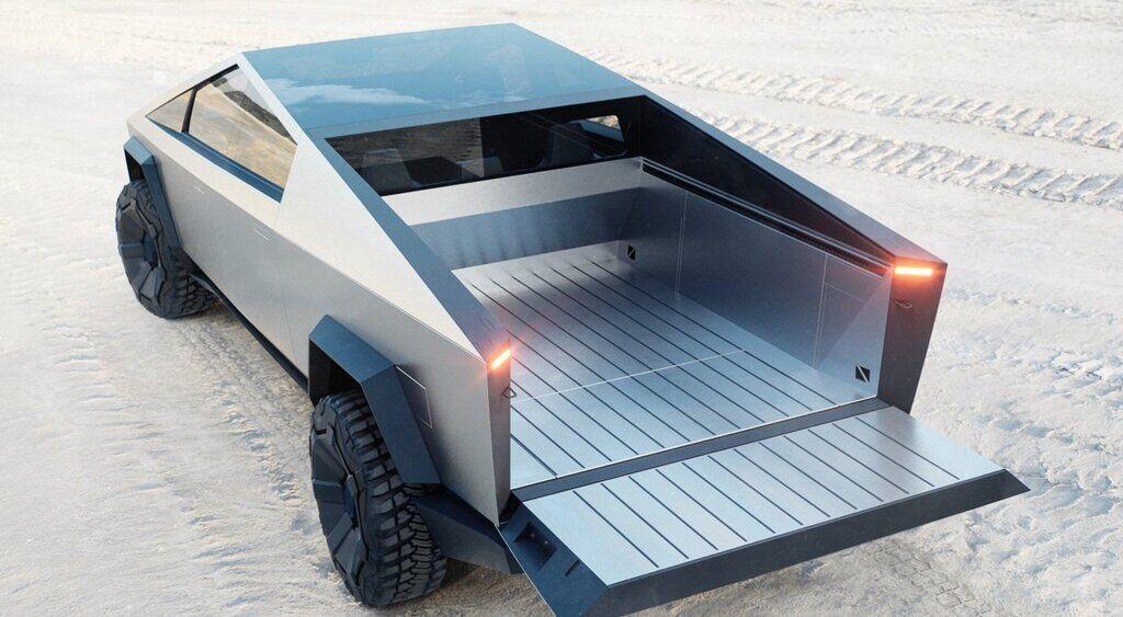 Объемы кузова пикапа Tesla Cyber Truck