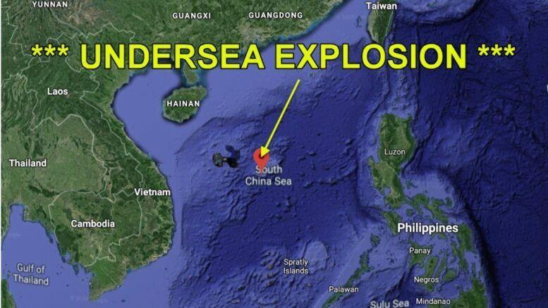 Китайцы испытывали ядерное оружие в море?