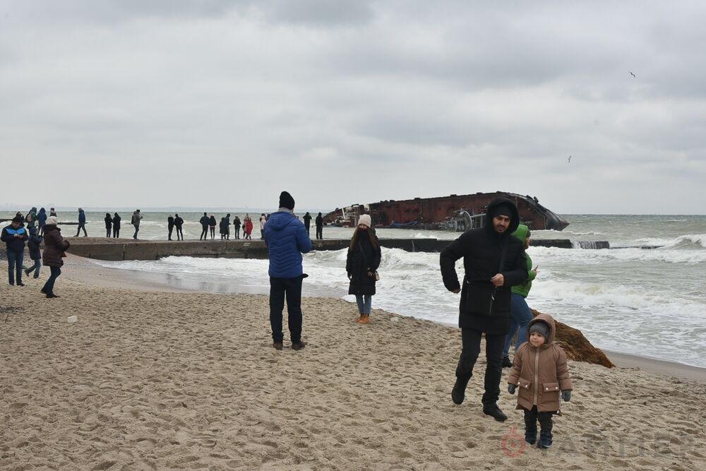 Місце катастрофи танкера в Одесі