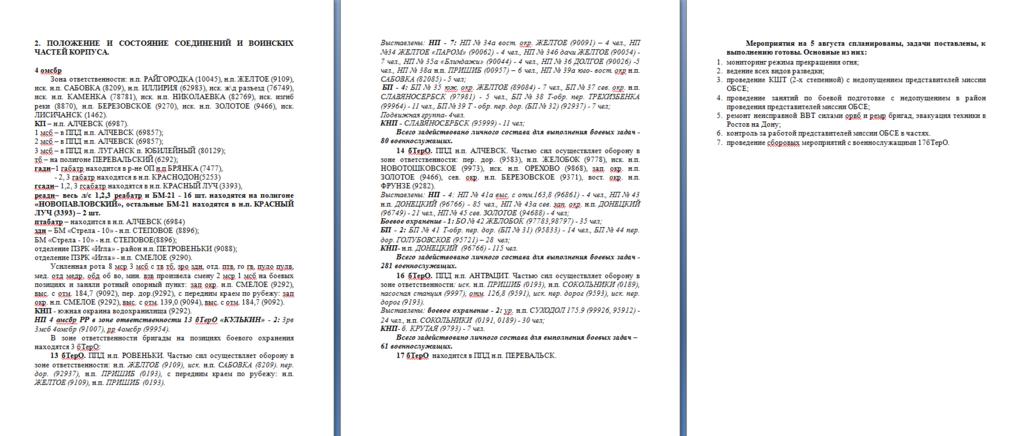 Секретные документы ДНР