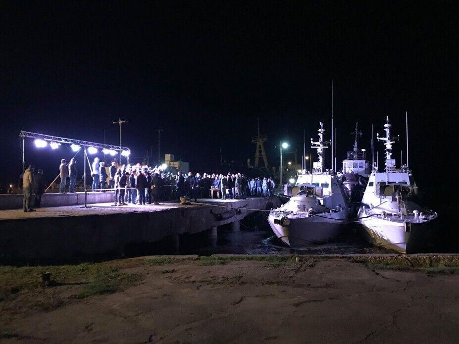 Украинские корабли после российского плена прибыли в Очаков