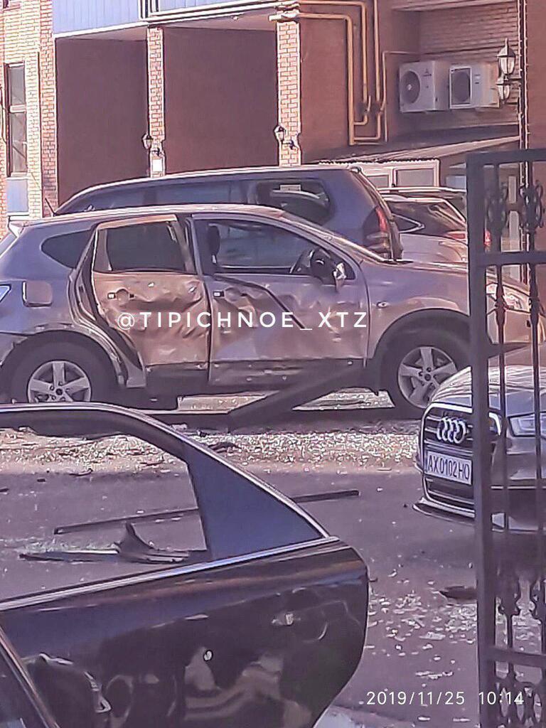 У Харкові підірвали машину з людиною всередині