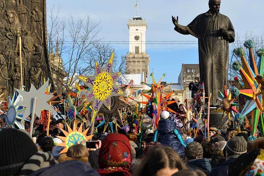 Празднование Рождества во Львове
