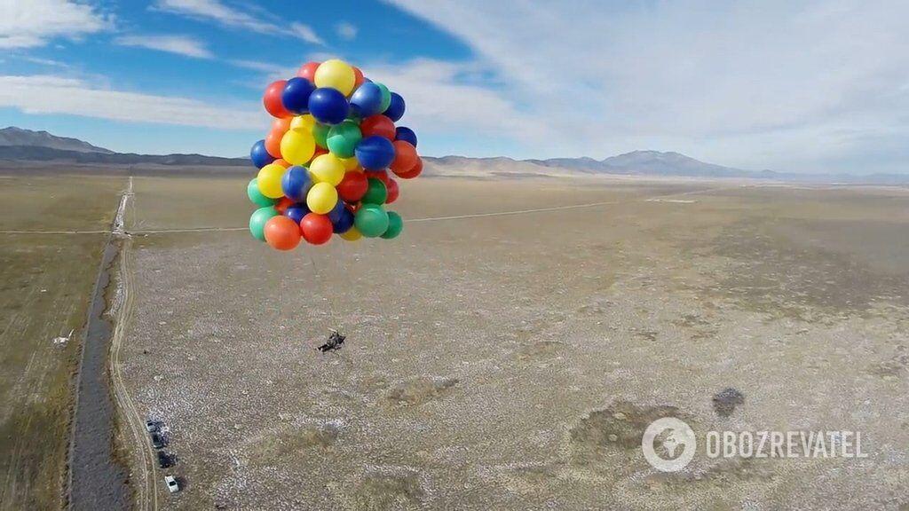Політ на повітряних кулях накачаних гелієм