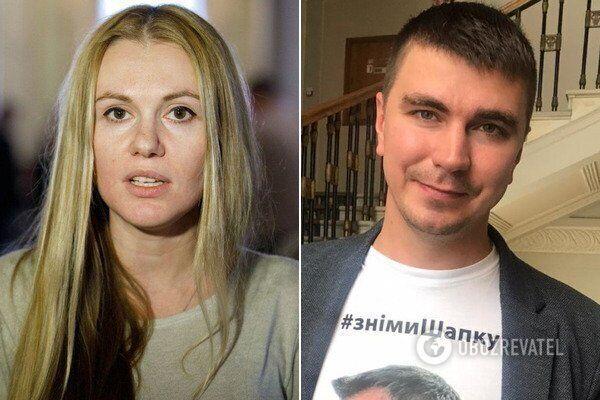 Исключенные из фракции Анна Скороход и Антон Поляков