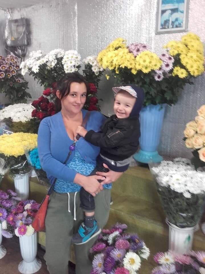 Дарина Чернишук і син Дарій