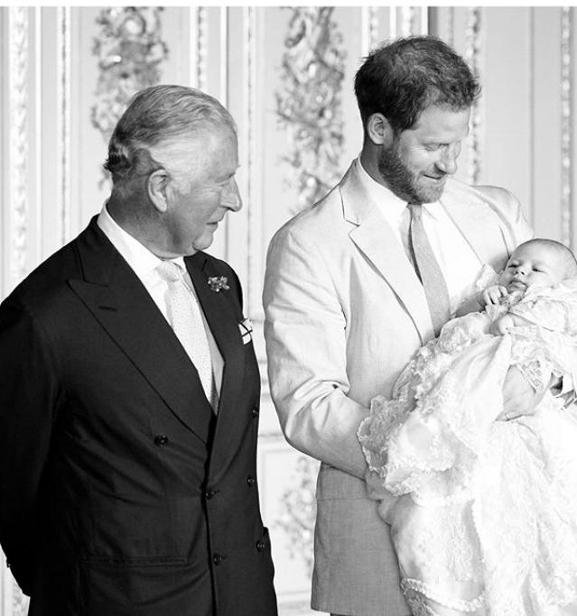 Принц Чарльз, Принц Гарри и маленький Арчи