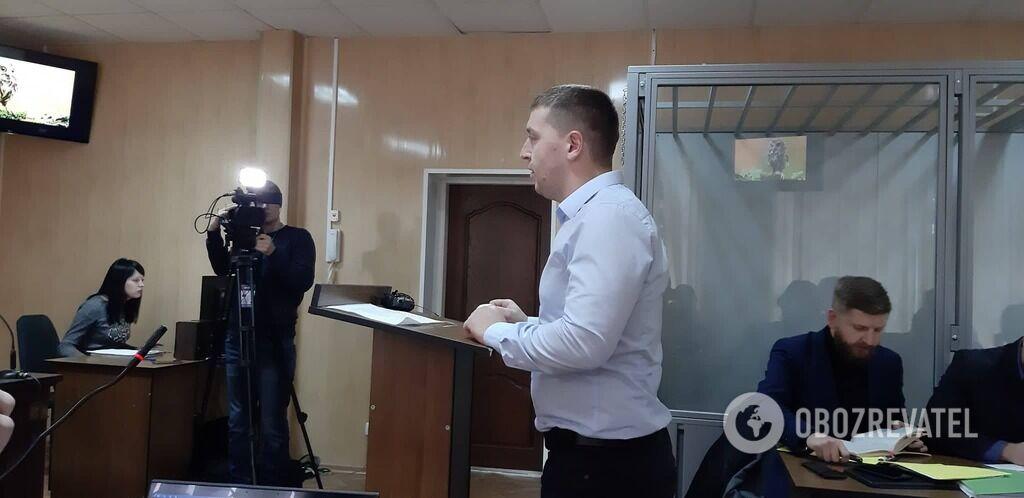 Прокурор Тарас Турчин на судовому засіданні 28 листопада