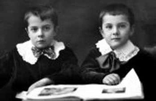 Борис Патон (справа) разом з братом
