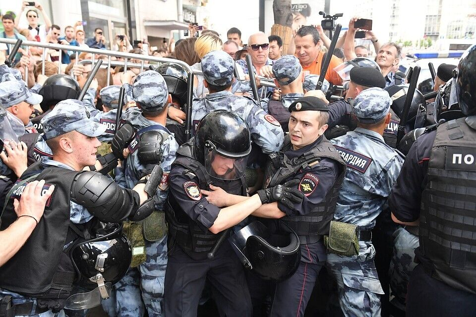 Протести у Росії