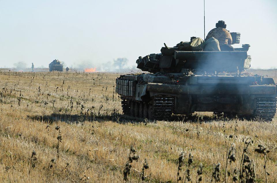 24 листопада в ООС відбулися танкові навчання