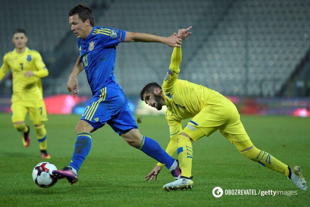 Украина против Косово в рамках отбора на ЧМ-2018