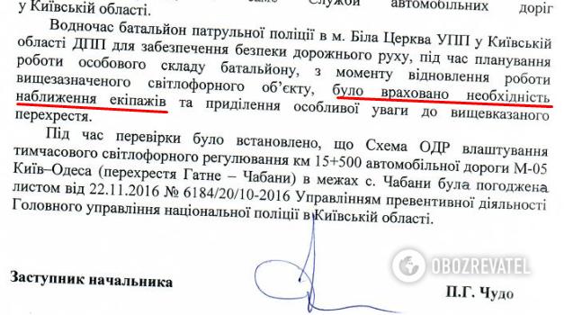 Ответ УПП в Киевской области в декабре 2018 года.  В полиции сообщали о внимании к проблемному участку